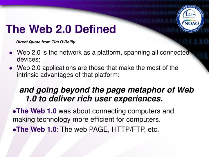 The Web 2.0 Defined