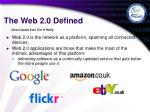 the web 2 0 defined6
