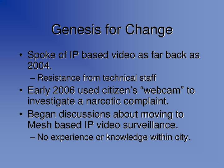 Genesis for Change