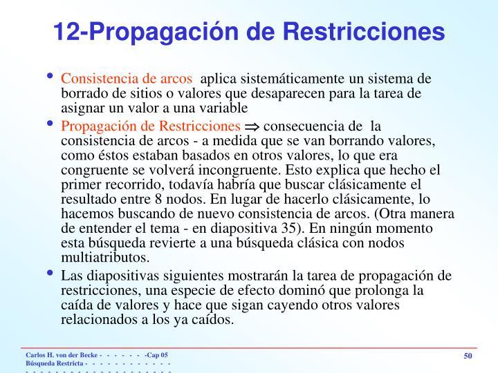 12-Propagación de Restricciones