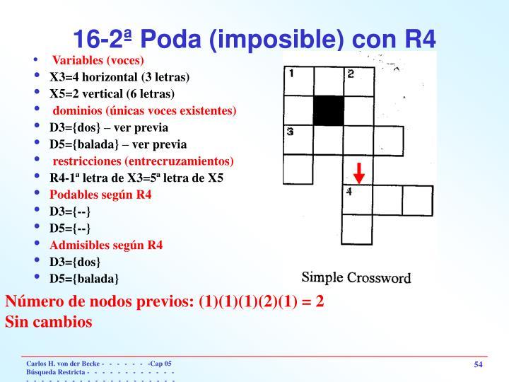 16-2ª Poda (imposible) con R4