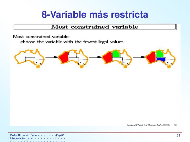 8-Variable más restricta