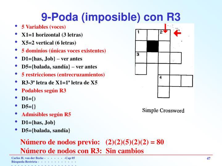 9-Poda (imposible) con R3