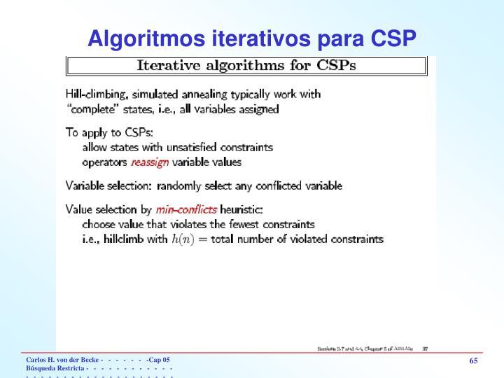 Algoritmos iterativos para CSP