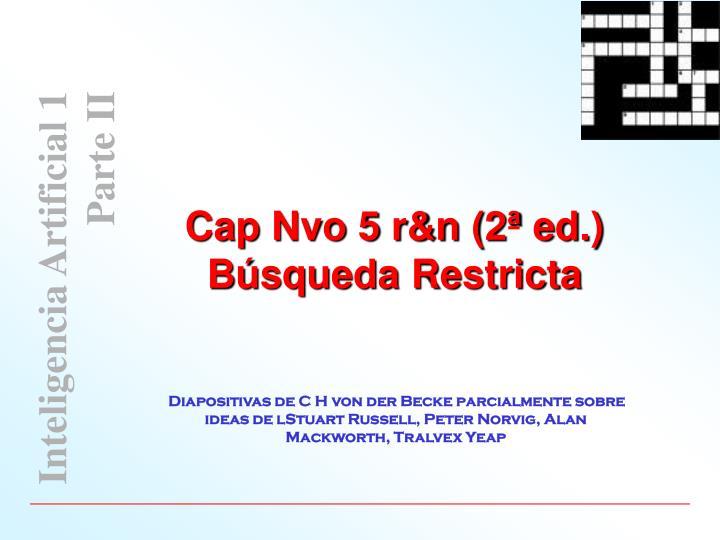 Cap Nvo 5 r&n (2ª ed.)