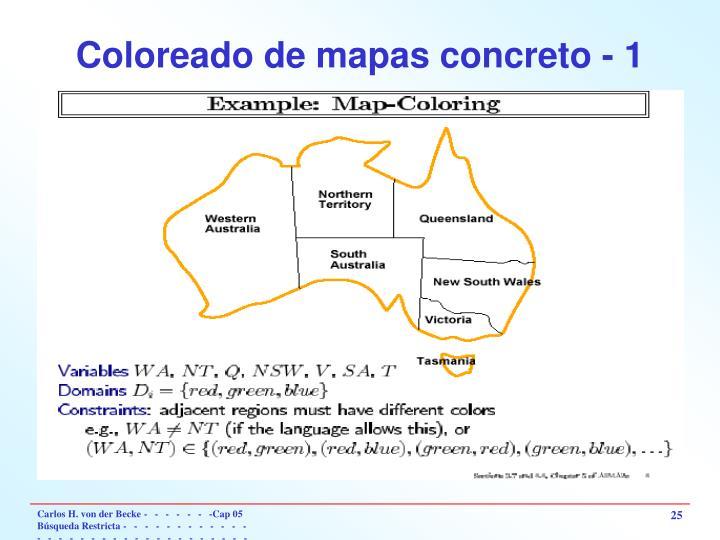Coloreado de mapas concreto - 1