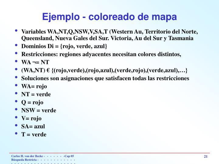 Ejemplo - coloreado de mapa