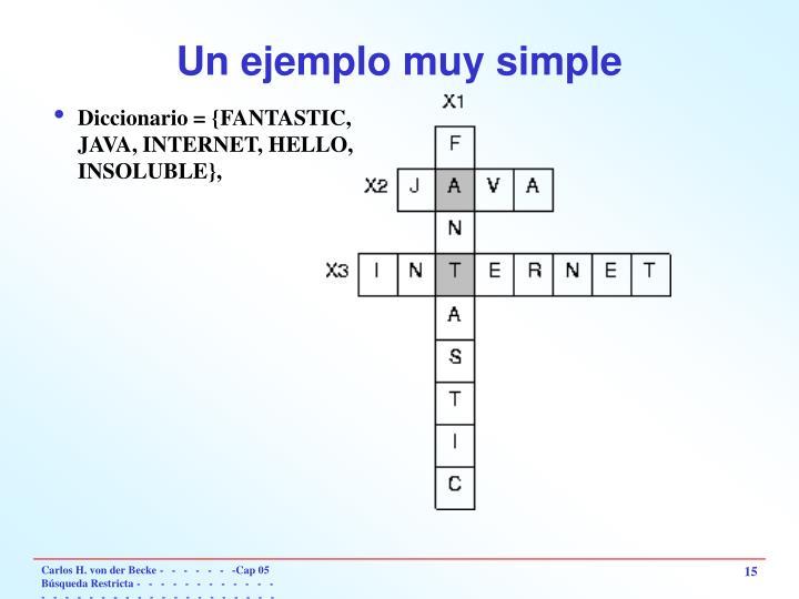 Un ejemplo muy simple