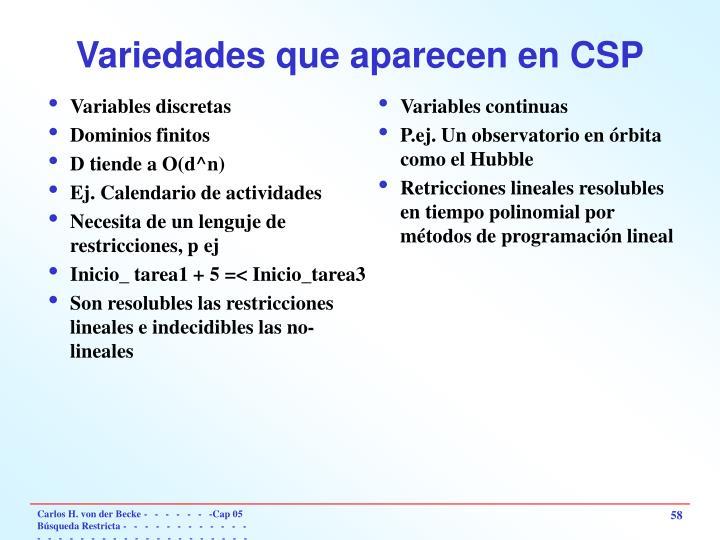 Variables discretas