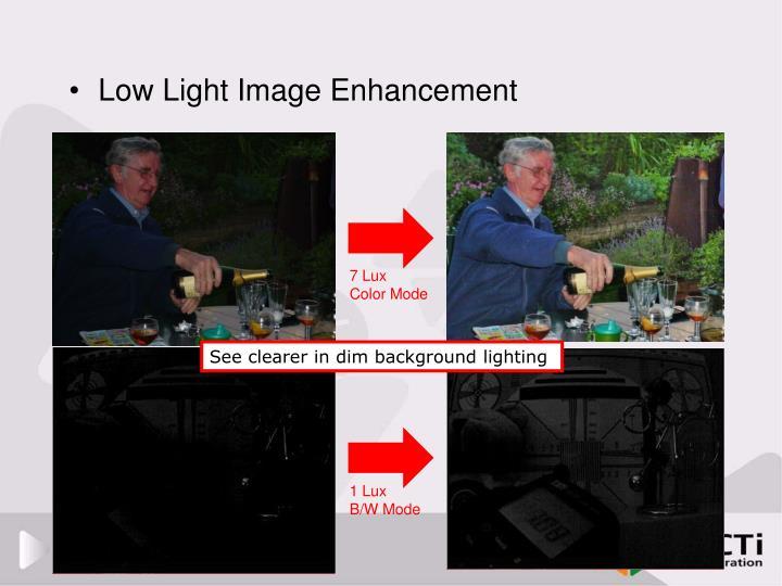 Low Light Image Enhancement