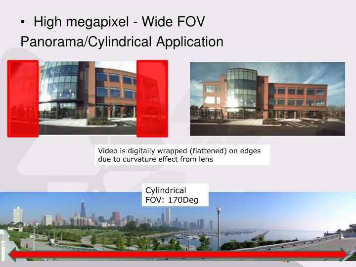 High megapixel - Wide FOV
