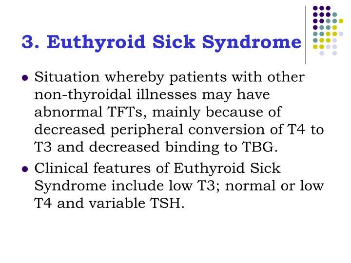 3. Euthyroid Sick Syndrome