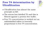 free t4 determination by ultrafiltration