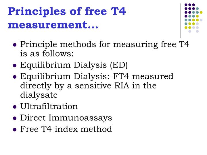 Principles of free T4 measurement…