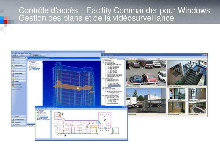Contrôle d'accès – Facility Commander pour Windows