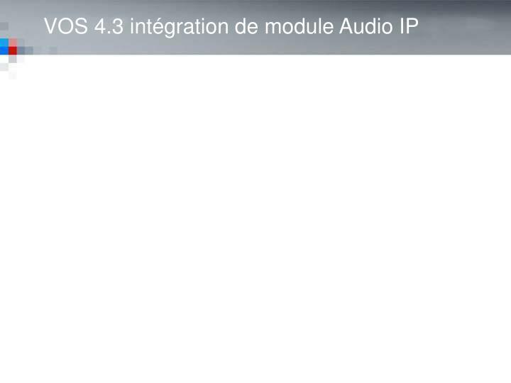 IP Audio Integration