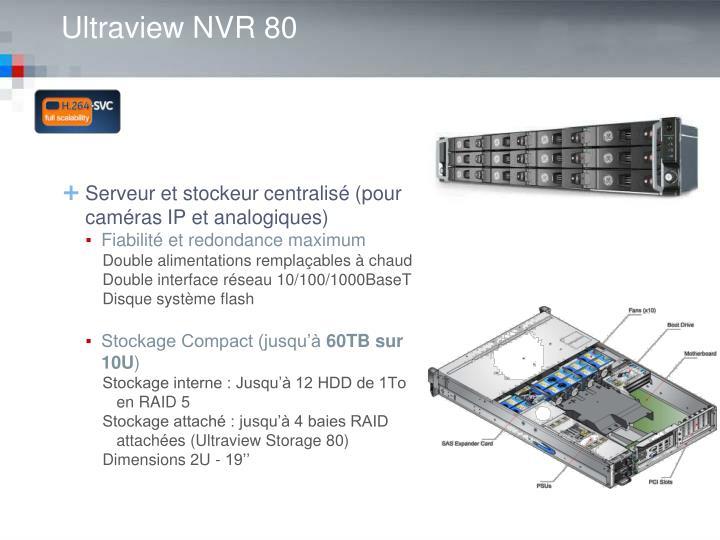 Serveur et stockeur centralisé (pour caméras IP et analogiques)