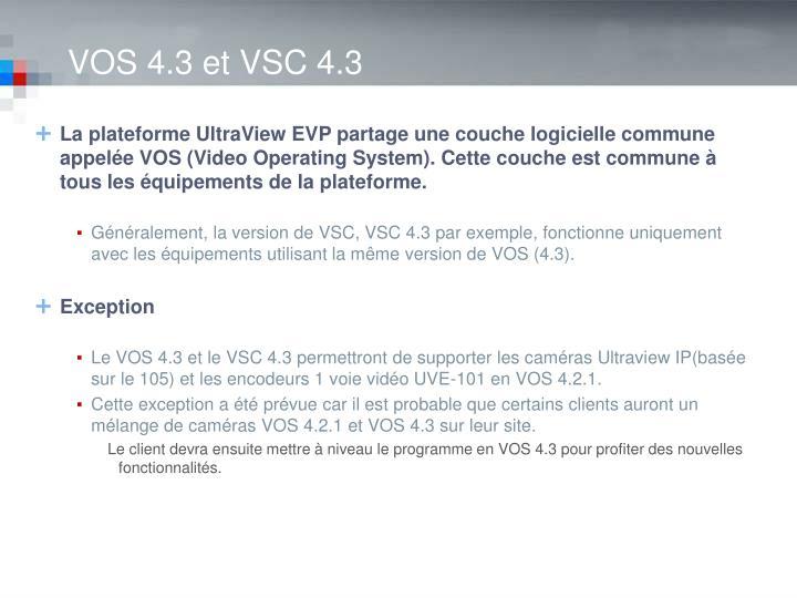 VOS 4.3 et VSC 4.3