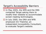 target s accessibility barriers