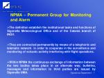 npma permanent group for monitoring and alarm