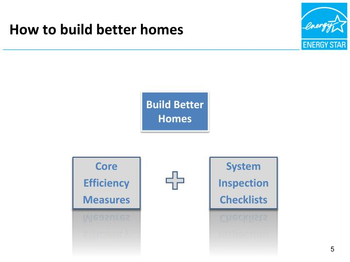 How to build better homes