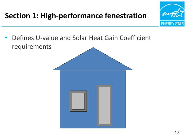 Section 1: High-performance fenestration