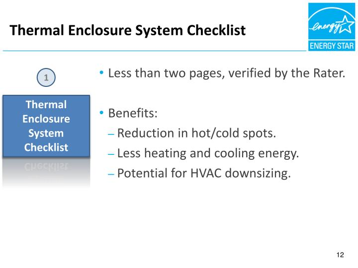 Thermal Enclosure System Checklist