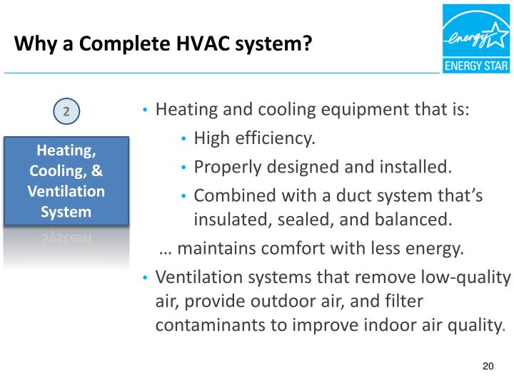 Why a Complete HVAC system?
