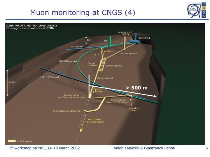 Muon monitoring at CNGS (4)