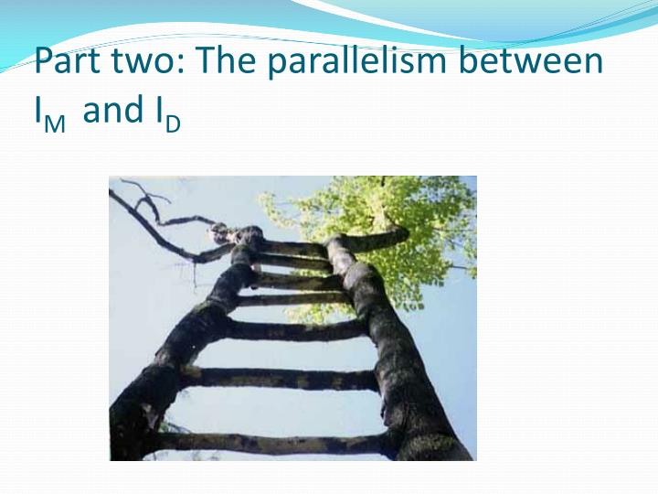 Part two: The parallelism between I