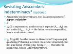 revisiting anscombe s indeterminacy optional