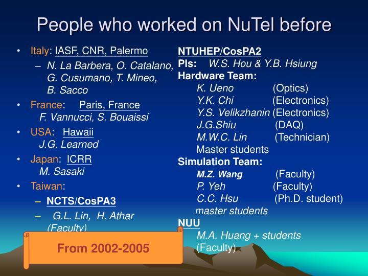 NTUHEP/CosPA2