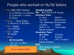 people who worked on nutel before