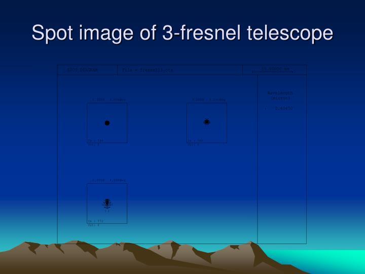 Spot image of 3-fresnel telescope