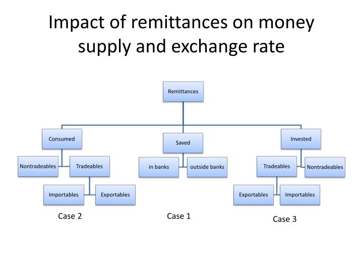 Impact of remittances on money supply and exchange rate