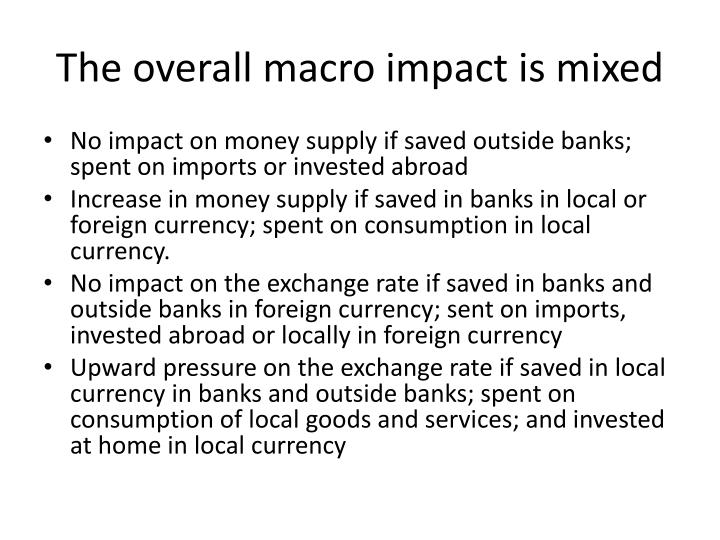 The overall macro impact is mixed