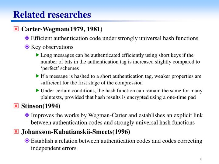 Related researches
