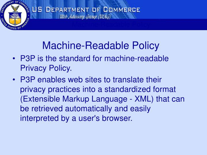Machine-Readable Policy