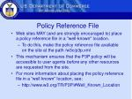 policy reference file