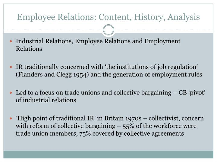 Employee Relations: Content, History, Analysis