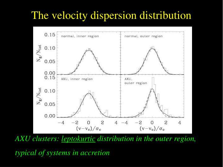The velocity dispersion distribution