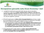 occupazione giovanile nella green economy i dati
