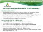occupazione giovanile nella green economy