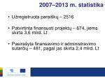 2007 2013 m statistika
