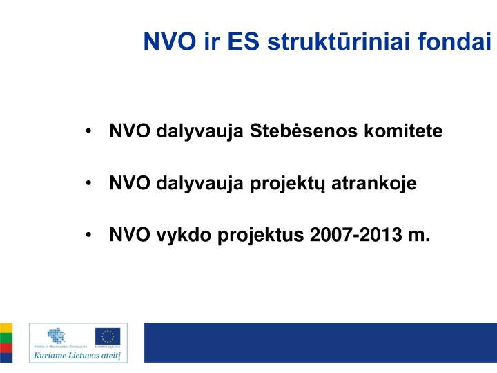NVO ir ES struktūriniai fondai