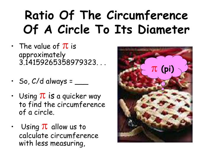 Ratio Of The Circumference Of A Circle To Its Diameter