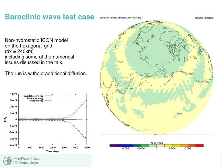 Baroclinic wave test case