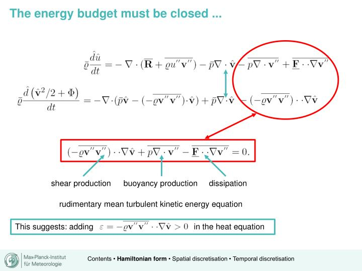 The energy budget must be closed ...