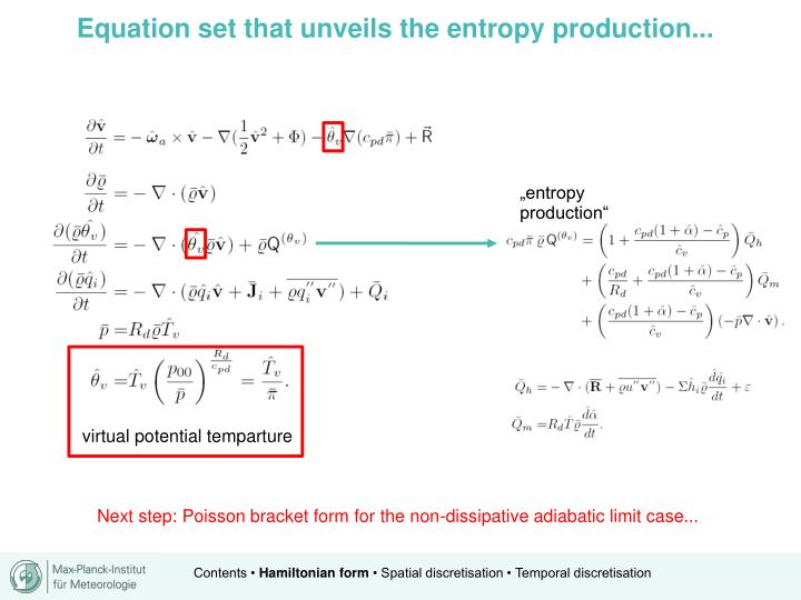 Equation set that unveils the entropy production...