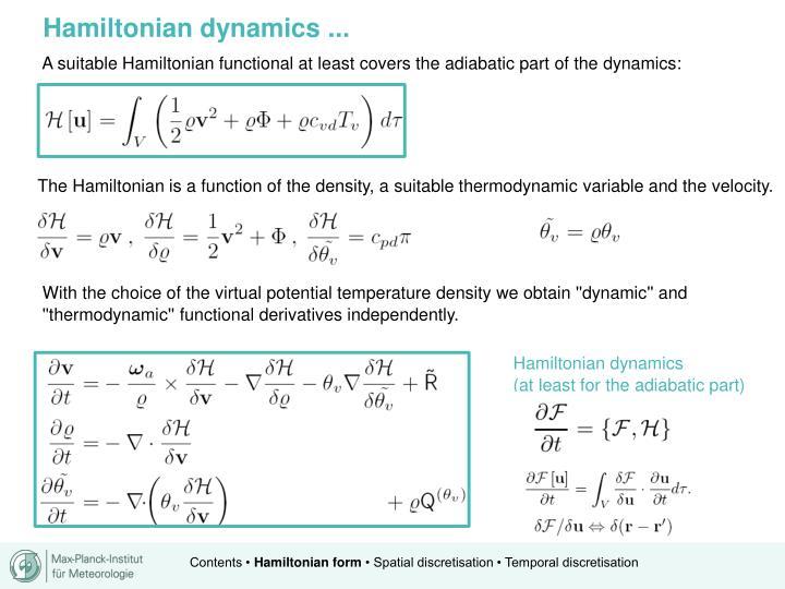Hamiltonian dynamics ...